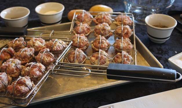 Grilled Meatballs with Lemon-Dill Sauce