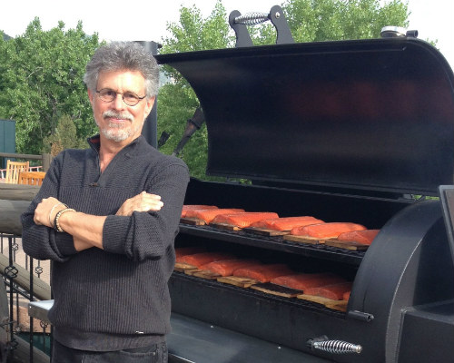 Steven Raichlen with Yoder Smoker at Barbecue University