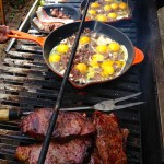 Steaks and Eggs Breakfast on the Grill