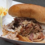 Big Bob Gibson's Pulled Pork Sandwich with White Barbecue Sauce