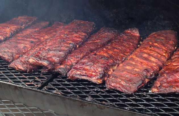 Rack Of Ribs On Grill