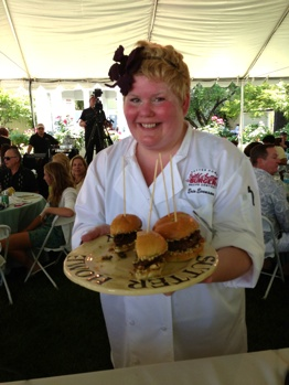 Erin Evenson with Winning Build a Better Burger