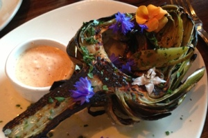 Grilled Artichoke at OX Restaurant
