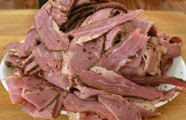 Corned Beef Hits the Smoker