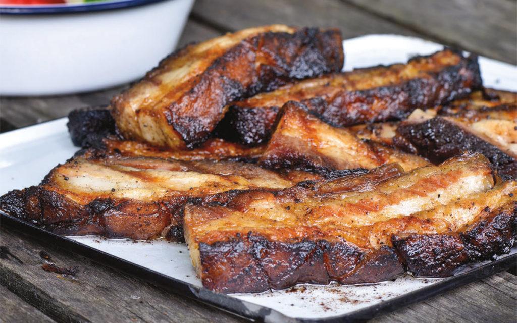 Barbecued Pork Belly Recipe Barbecuebible Com