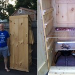 Paul Kuconis's home-built smokehouse