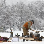 Francis Mallmann cooking in the snow