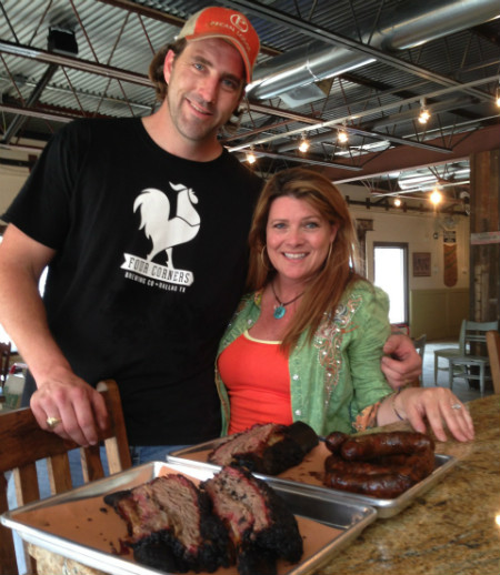 Justin and Diane Fourton at Pecan Lodge