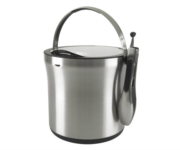 Stainless Steel Ice Bucket And Tongs Barbecuebible Com