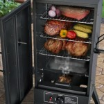 Smoke Hollow vertical propane smoker