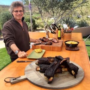Steven Raichlen with beef ribs