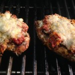 Chicken parmesan on the grilll