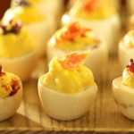 Smoked deviled eggs