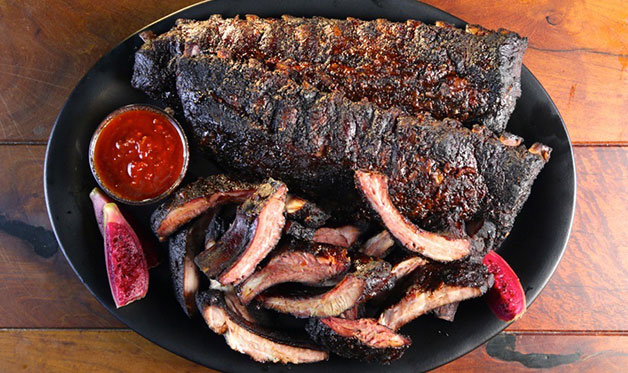 Smoked Baby Back Ribs With Ly Pear Barbecue Sauce Adapted From Steven Raichlen S Bbq Usa