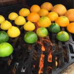 Lemons and limes on the grill