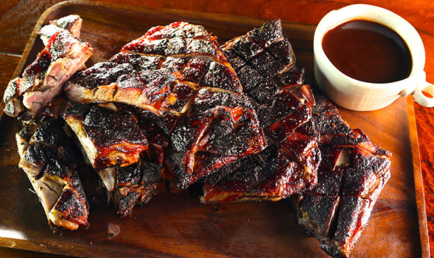 Cocoa-Rubbed Lamb Ribs with Cherry Cola Barbecue Sauce
