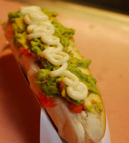 Chilean italiano hot dog