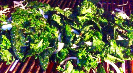 Kale on grill