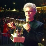 Steven Raichlen with Barbecue Hall of Fame trophy