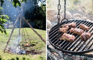 How to Make a Schwenker (German Swinging Grill)