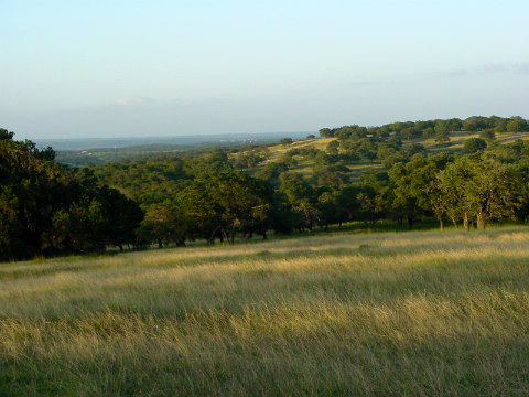 The landscape at Broken Arrow Ranch