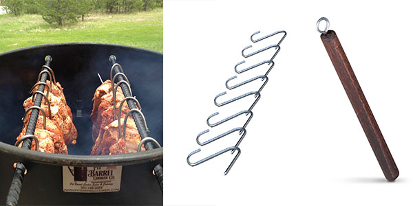 Meat Hooks and Hook Remover for Pit Barrel Cooker