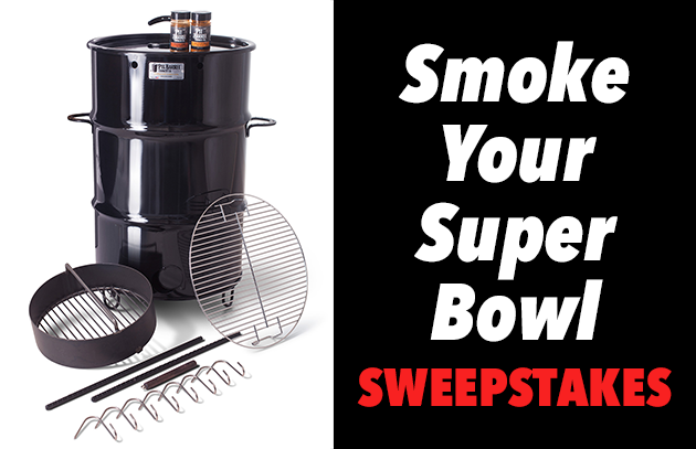 Smoke Your Super Bowl Sweepstakes: Enter for a Chance to Win a Pit Barrel Cooker!
