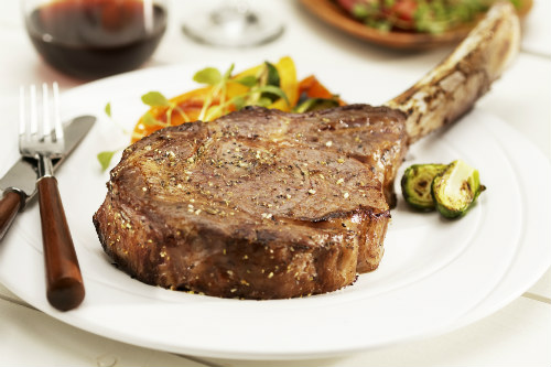 Bone-in tomahawk steak