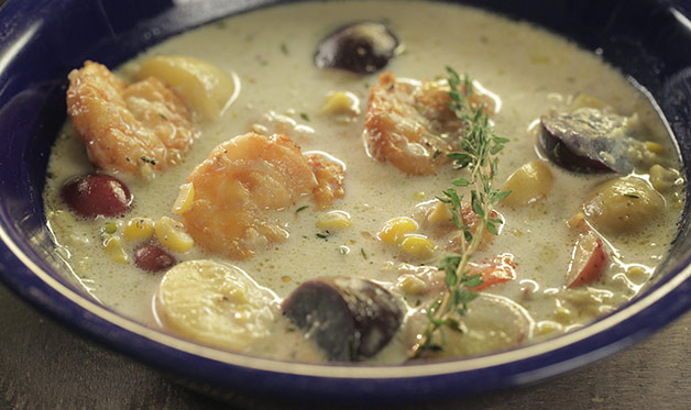 Smoked Shrimp and Corn Chowder - Barbecuebible.com