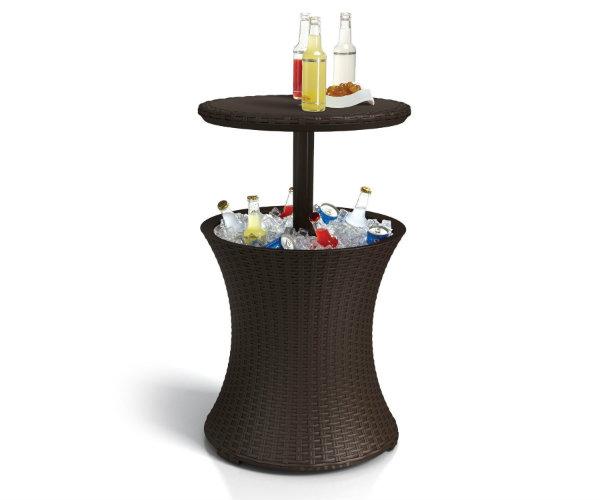 keter rattan cooler table. Black Bedroom Furniture Sets. Home Design Ideas