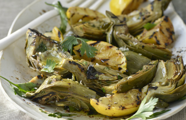 Grilled and Smothered Artichokes from the Vegetable Butcher