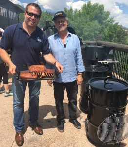 Noah Glanville and Steven Raichlen at Barbecue University