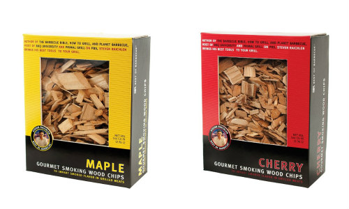 Maple and cherry wood chips