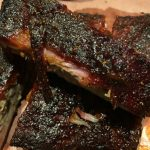 Ribs on butcher paper