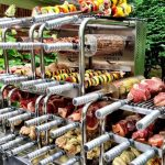 Carson Rodizio rotisserie loaded with food