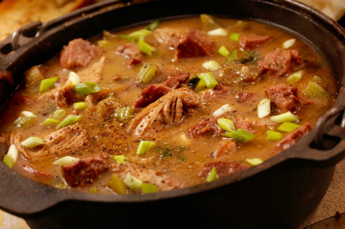 Smoked chicken and sausage gumbo