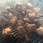 Chicken wings with smoke