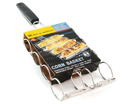 Corn grilling basket