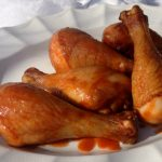 Smoke-Roasted Chicken Drumsticks with Maple Sriracha Glaze