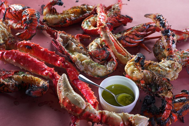 Grilled King Crab With Absinthe Herb Butter