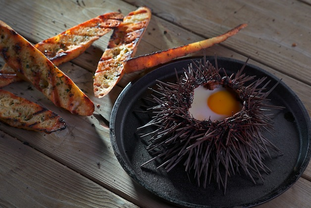 Egg On Eggs Grilled Sea Urchins Barbecuebible Com