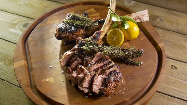 Grilled Veal Chops With Smoking Rosemary Barbecuebible Com