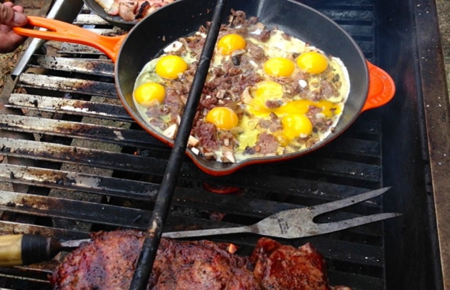 Breakfast Moves to the Grill