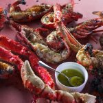 CAVEMAN LOBSTERS WITH ABSINTHE BUTTER