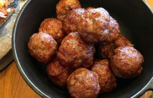 Tongue-In-Cheek Meatballs: Blue(berry) Balls