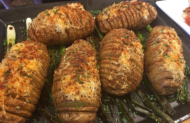 The Best Potato Ever? Smoke-Roasted Hasselback Potatoes