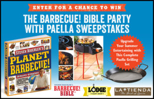 Upgrade Your Summer Entertaining: Enter for a Chance to Win the Barbecue Bible Party with Paella Sweepstakes