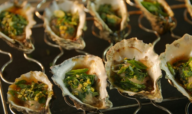 Grilled Oysters with Asian Aromatics - Barbecuebible com