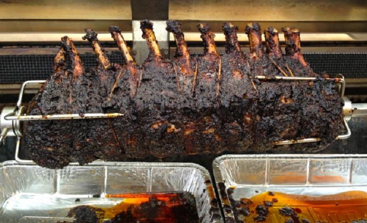 Spit Roasted Pork Loin Roast Barbecuebible Com