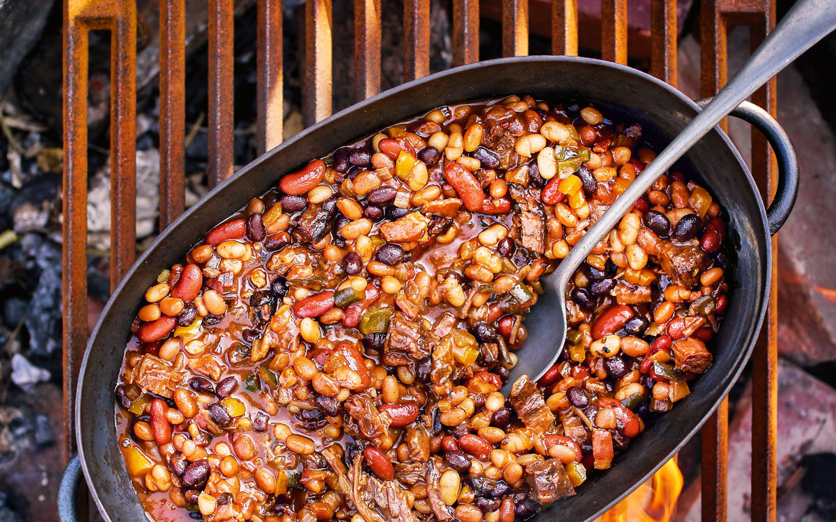 Brisket Baked Beans Recipe [Side Dish] - Barbecuebible.com